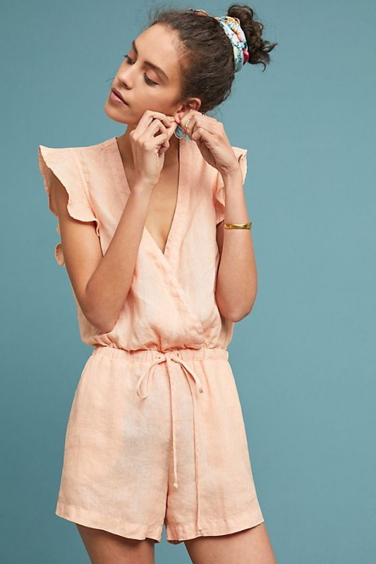 Cloth & Stone Linen Romper