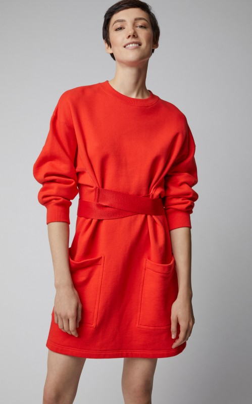 Proenza Schouler PSWL Satin-Trimmed Cotton-Jersey Dress