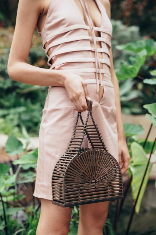 Teak Basket Bag