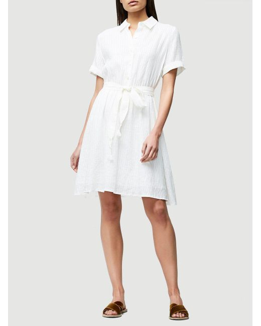 Frame Belted Linen Dress