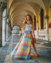 Colorful Plaid Dress