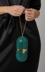 Marzook Brass and Crystal Pill Bag