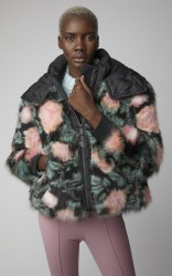 Moncler Genius Shell-Trimmed Fox-Fur Hooded Jacket