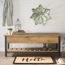 Savon Open-Top Wood Storage Bench